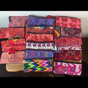 16 BOHO Guatemalan huipils pencil bag